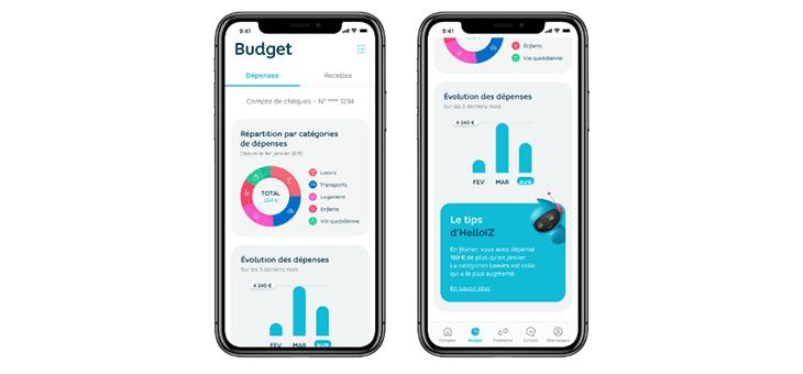 screenshot application hello bank